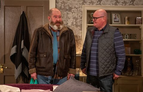 Paddy Kirk speaks to Bear Wolf in Emmerdale