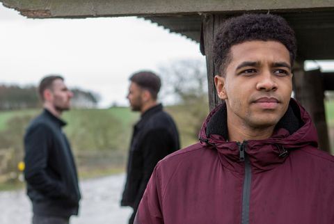 Ellis Chapman sees Billy Fletcher with Max in Emmerdale