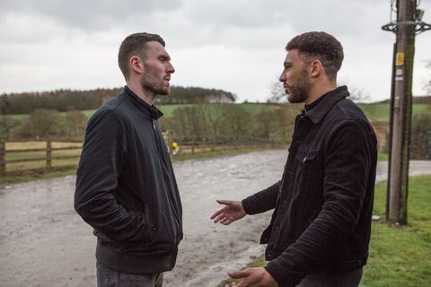 Billy Fletcher meets up with Max in Emmerdale
