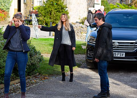charity dingle, debbie dingle and cain dingle in emmerdale