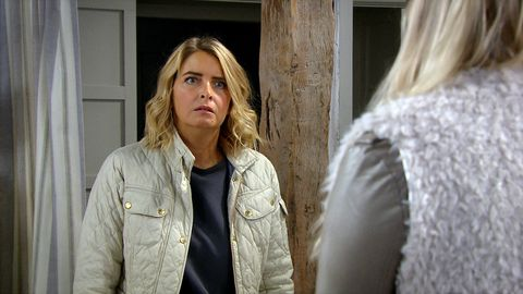 charity dingle and tracy metcalfe in emmerdale