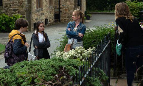 Charity Dingle rebukes Sarah Sugden in Emmerdale
