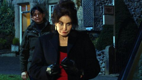 moira and faith dingle in emmerdale