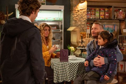 Jacob Gallagher tries to ruin Maya Stepney and David Metcalfe's date night in Emmerdale