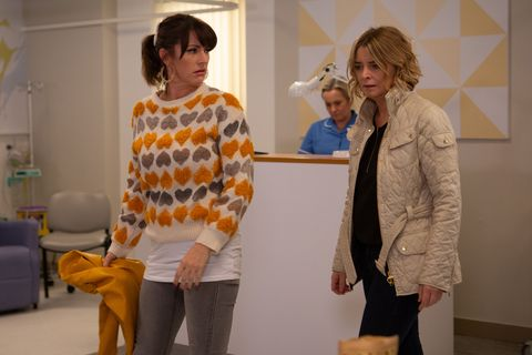 Kerry Wyatt and Charity Dingle in Emmerdale