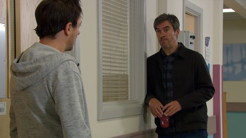 matty barton and cain dingle in emmerdale