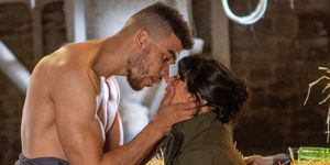 Nate Robinson and Moira Dingle give into temptation in Emmerdale