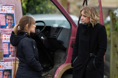 Rhona Goskirk and Charity Dingle in Emmerdale