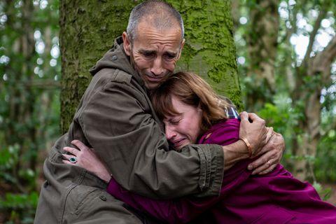 Sam Dingle supports Lydia Hart in Emmerdale