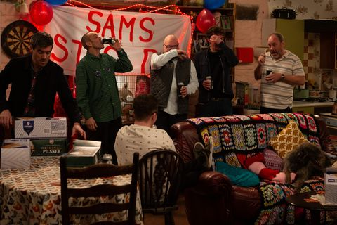 Sam Dingle's stag party in Emmerdale