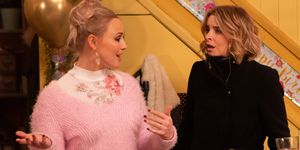 Tracy Metcalfe and Charity Dingle in Emmerdale