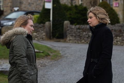 vanessa woodfield and charity dingle in emmerdale