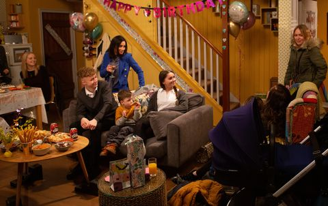Vanessa Woodfield's party in Emmerdale
