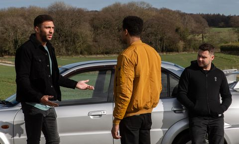 Billy Fletcher reveals all to Ellis Chapman and Aaron Dingle in Emmerdale