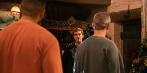 Cain Dingle confronts his family in Emmerdale