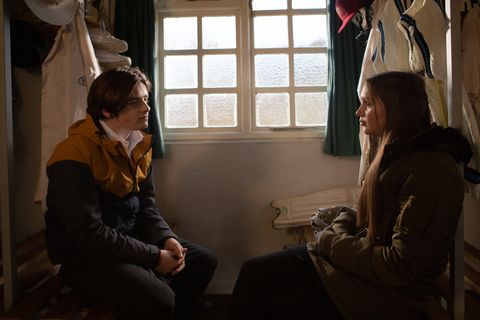 Sarah Sugden with Danny in Emmerdale