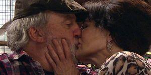 Zak and Faith Dingle kiss in Emmerdale