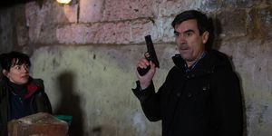 Cain and Moira Dingle's shooting incident in Emmerdale