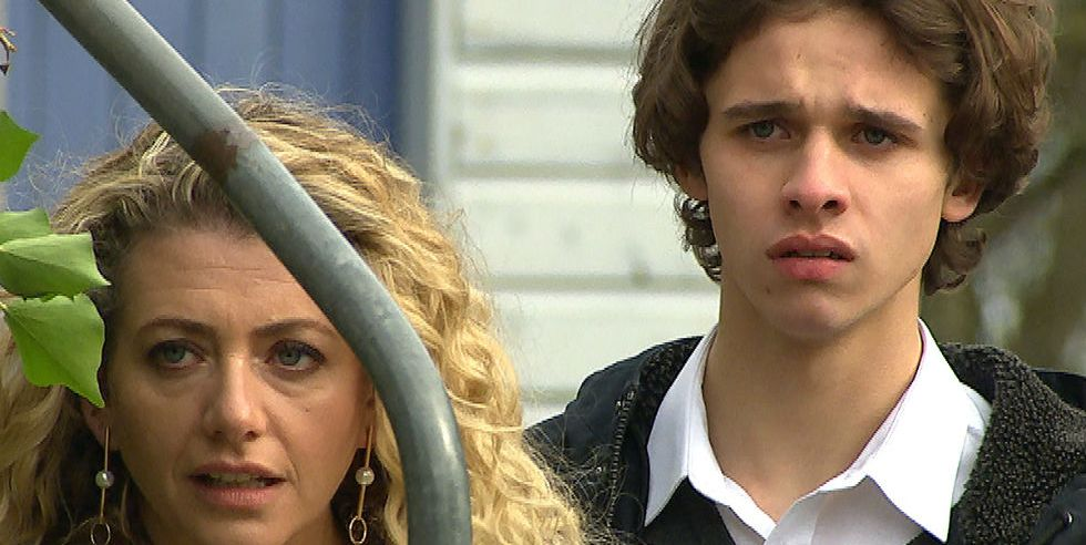 Maya Stepney and Jacob Gallagher in Emmerdale