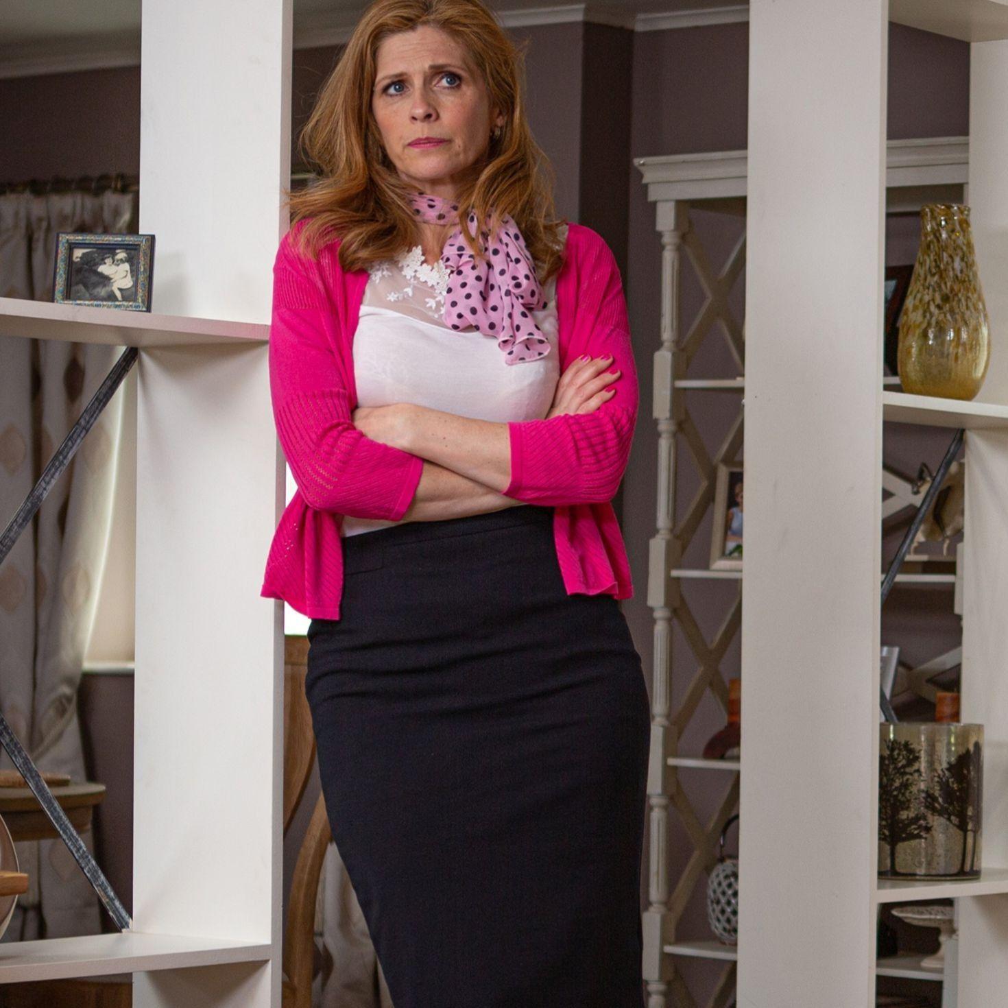 Emmerdale star Samantha Giles films Bernice's final scenes