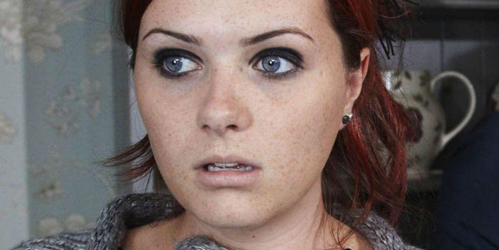Chelsea Halfpenny as the old Amy Wyatt in Emmerdale