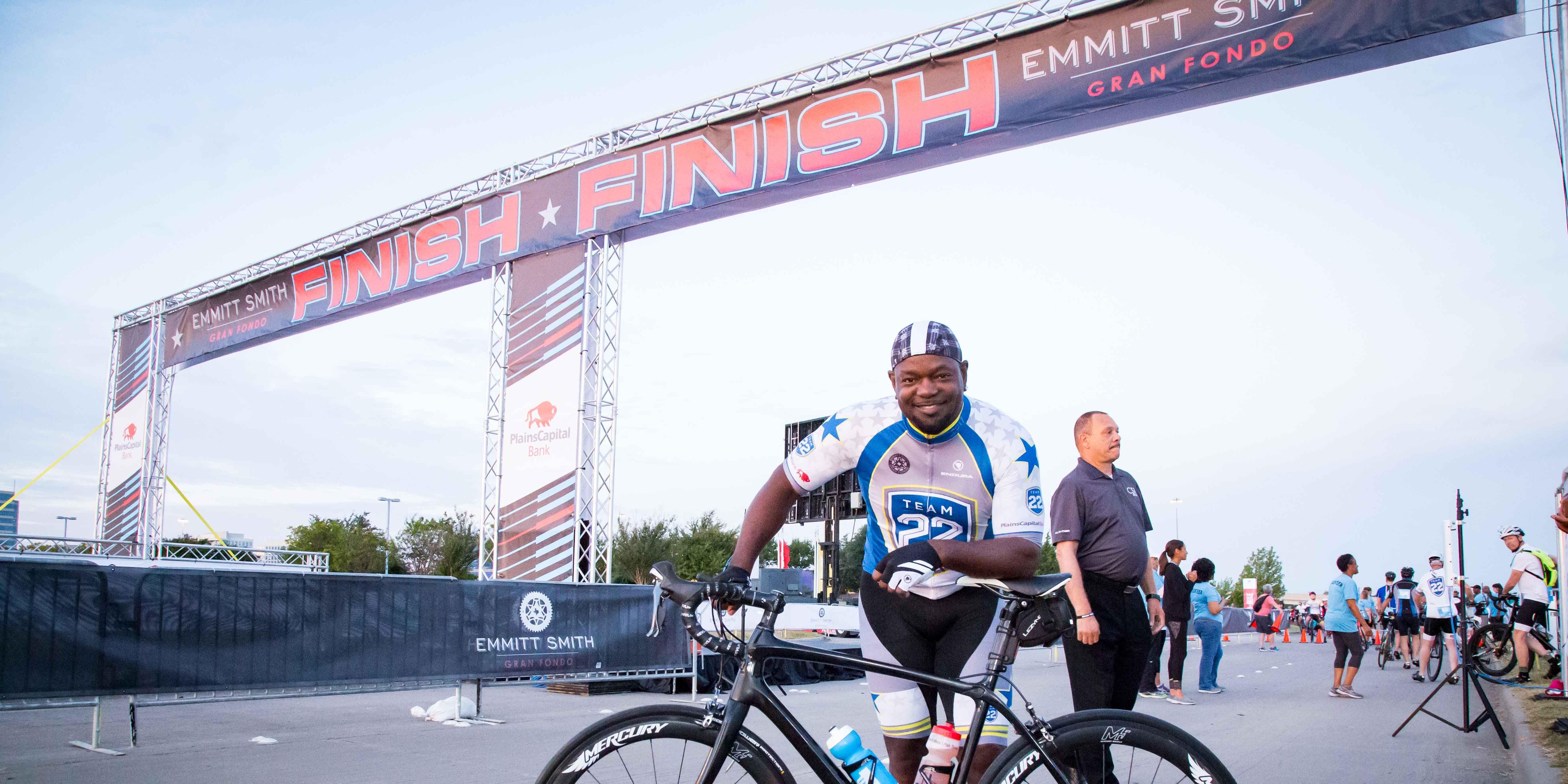 Emmitt Smith cycling