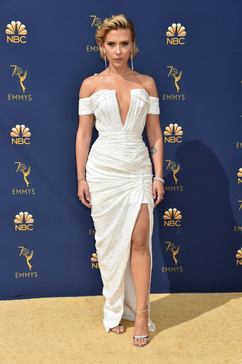 Scarlett Johansson emmy awards 2018 red carpet