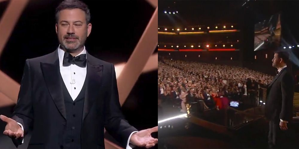 """Emmys Viewers Are Utterly Confused About the """"Live"""" Audience in Jimmy Kimmel's Opening"""