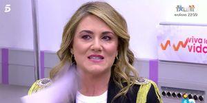 Carlota Corredera muy emocionada ante la sorpresa de 'Viva la vida'