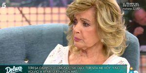 María Teresa Campos emocionada