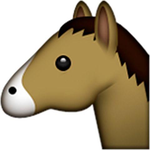 Emoji de caballo