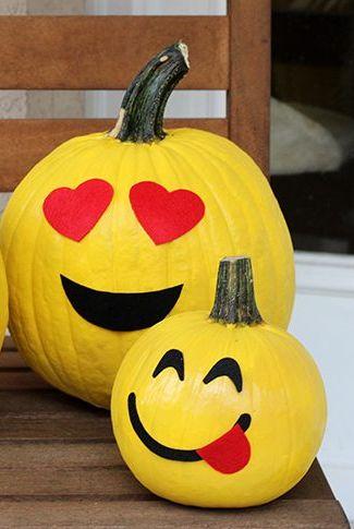 emoji pumpkins no-carve