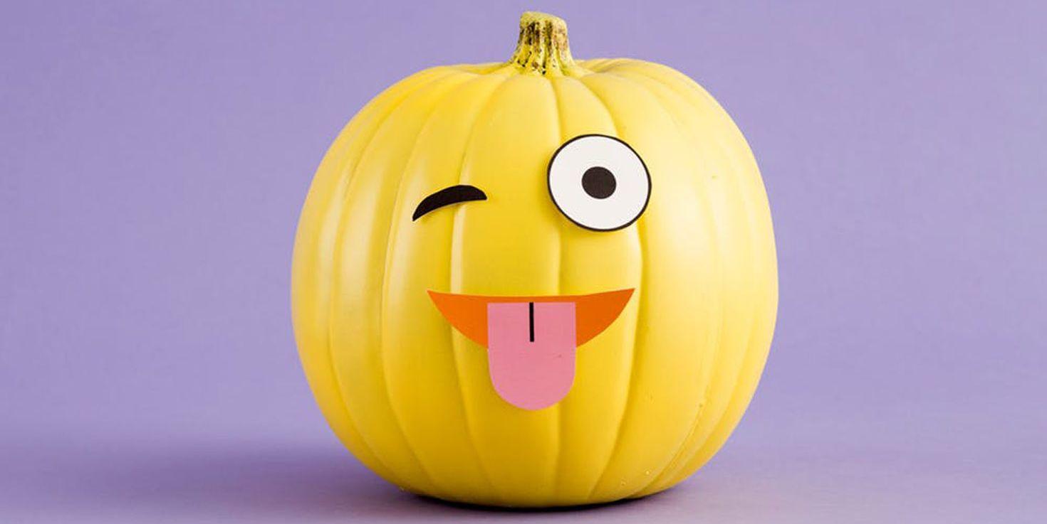emoji pumpkin carving tongue