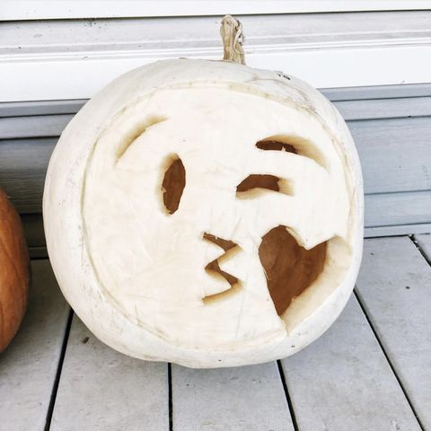 emoji pumpkin carving white