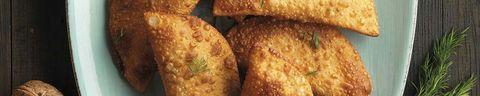 empanadillasde salmón, queso y nuece