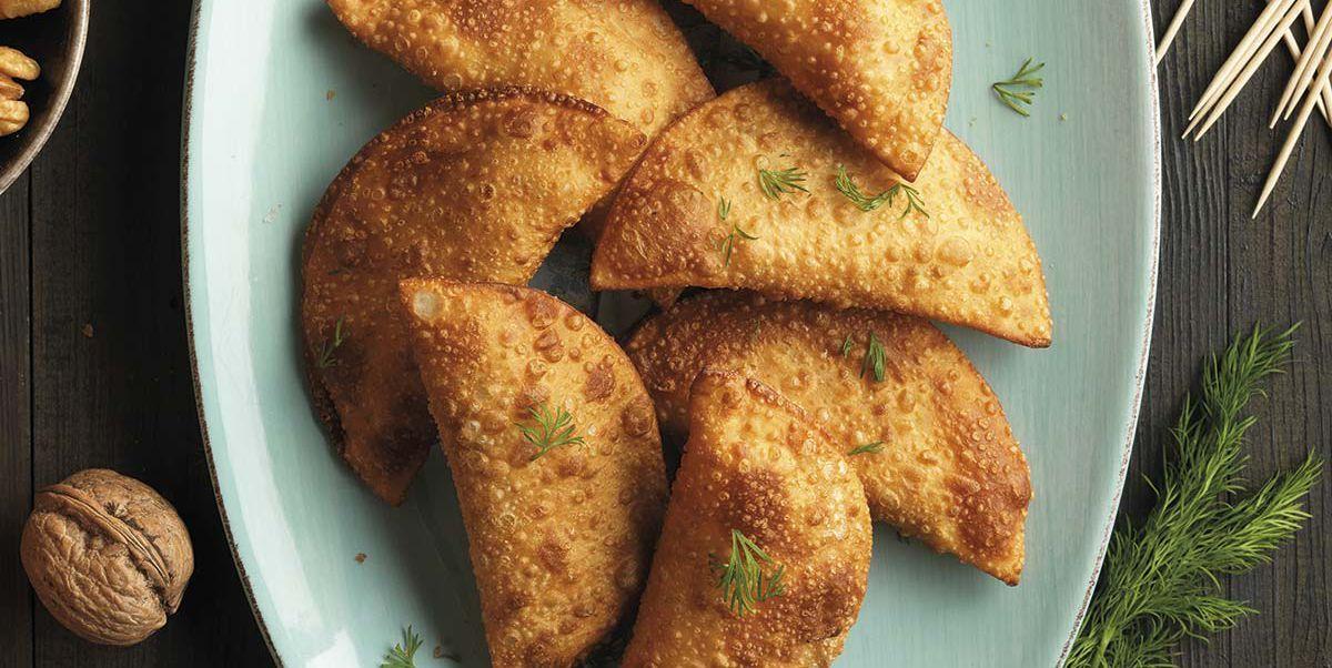 Empanadillas de salmón, queso y nueces