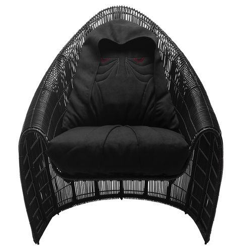 Black, Furniture, Couch, Loveseat, Wicker, studio couch, Comfort,