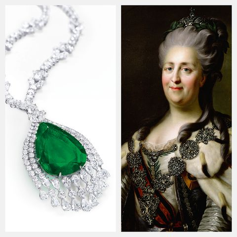 catherine ii russia the great emerald necklace auction christie's