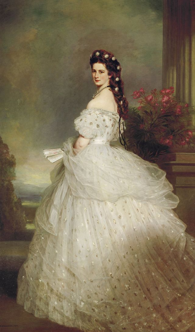 empress elisabeth in a star spangled robe