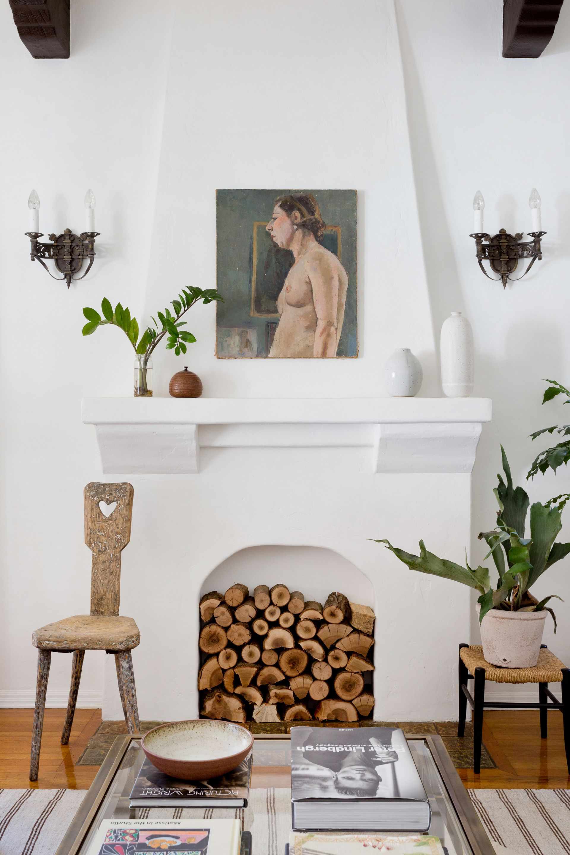 20 Empty Fireplace Ideas   How to Style a Non Working Fireplace