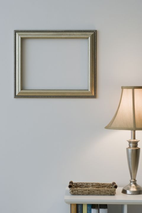 empty frame in home interior