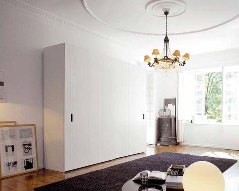armario modular de color blanco