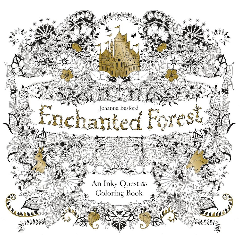 Adult colouring books -Johanna Basford Enchanted Forest colouring book