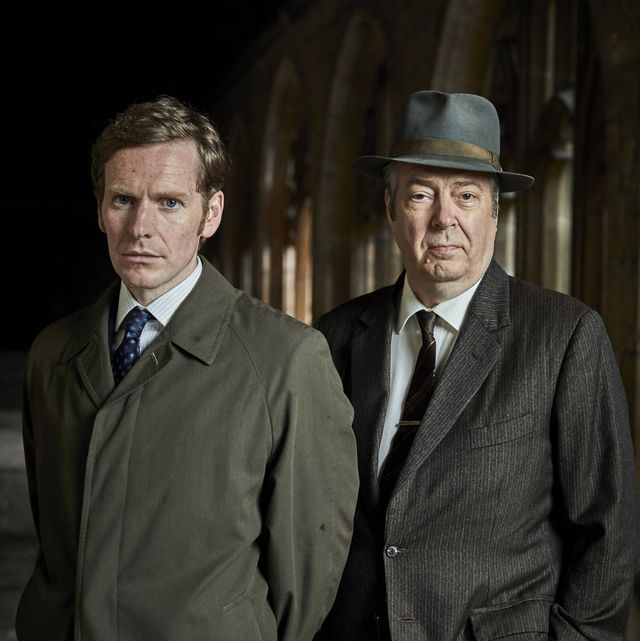 """masterpiece mystery""""endeavour"""" season 7shown from left to right shaun evans as endeavour morse and roger allam as fred thursdayc mammoth screenfor editorial use only"""