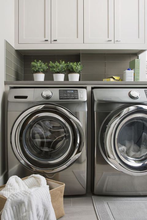 Washing machine, Major appliance, Laundry, Laundry room, Home appliance, Clothes dryer, Room, Furniture, Shelf, Cabinetry,