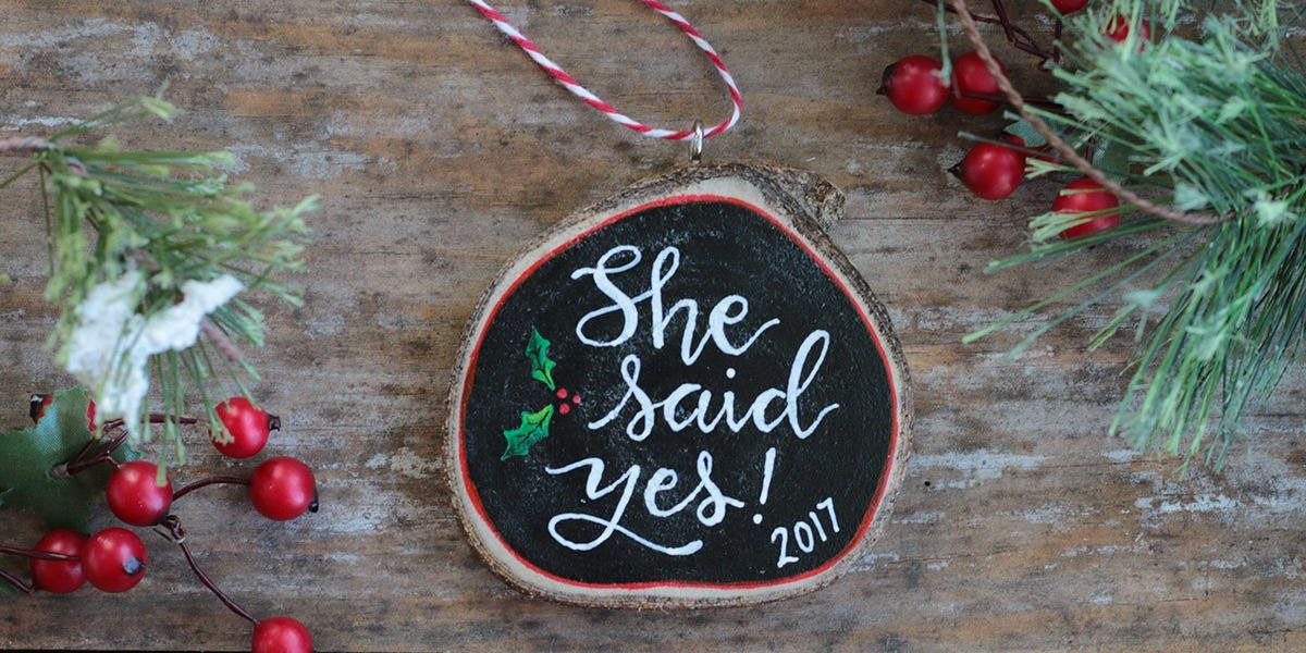 20 Engagement Ornaments - Personalized Ornaments for First Engaged Christmas - 20 Engagement Ornaments - Personalized Ornaments For First Engaged