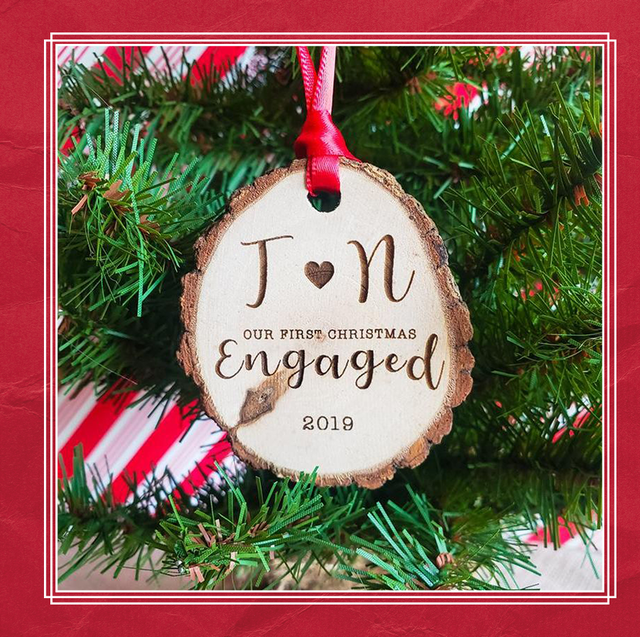 Christmas Ornaments With Names On Them.25 Best Engagement Ornaments Personalized Ornaments For
