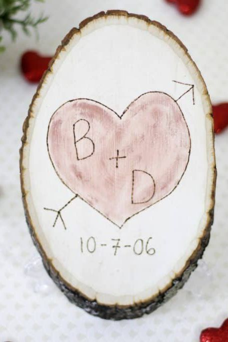 engagement party ideas engraved wood slice