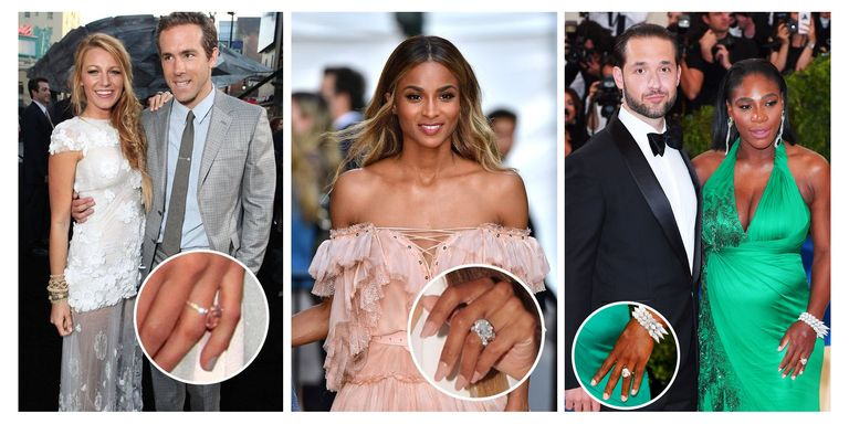 Gorgeous celebrity engagement ring and wedding bands best celeb we take a look back at the boldest bling gracing hollywoods ring fingers junglespirit Images