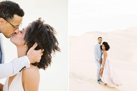 Stacia et mario davis tournage de fiançailles